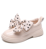 Polka Dot Bow Patent Leather Shoes