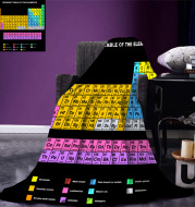 Periodic Table Of Elements 3D Digital Printing Sofa Blanket