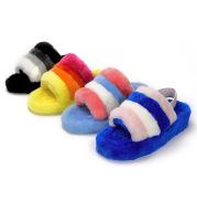 Sheepskin Wool Integrated Net Red Wool Women's Slippers