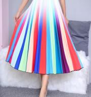 Summer Women's Pleated Skirt Mid Length Skirt