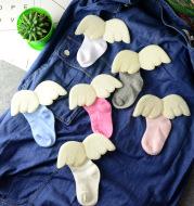 Children's Boneless Socks Angel Children's Socks Thin Solid Color Cotton Socks