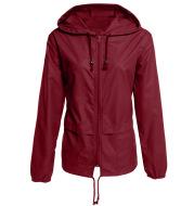 Raincoat Zipper Hooded Lightweight Outdoor Jacket Thin Outdoor Jacket
