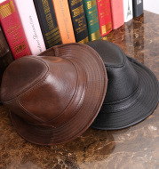 Men And Women Leather Tycoon Jazz Hat
