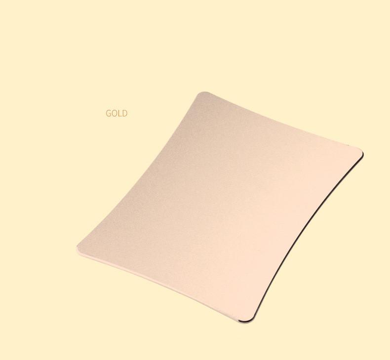 tapis de souris aluminium rectangle incurvé or