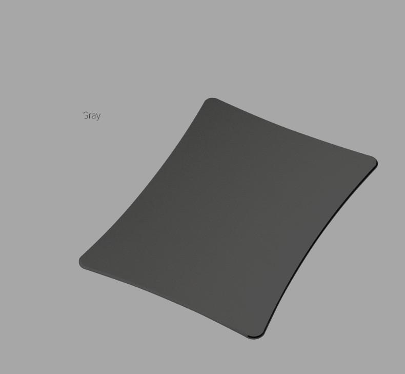 tapis de souris aluminium rectangle incurvé gris
