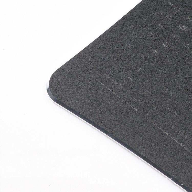 tapis de souris aluminium rectangle incurvé double face gris