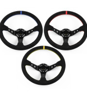 Car Modification Parts Racing Steering Wheel Suede Sports Steering Wheel 14 Inches 35cm