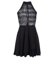 European And American Summer Sexy Lace Stitching Skirt
