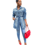 Fashion Casual Women's Slim-Fit Lapel Denim Jacket