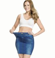 Corset Faux Denim Culottes Plus Size Seamless Yoga Pants