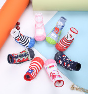 Children's Socks Shoes Multicolor Cartoon Boys And Girls Toddler Shoes Baby Floor Socks Shoes