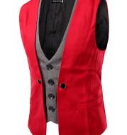 Men business suit vest waistcoat