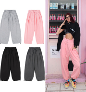 Fashion Solid Color All-Match Loose Casual Pants