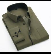 Long-Sleeved Shirt Korean Style Slim Men's Shirt