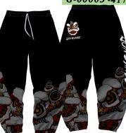 Autumn Country Tide Lion Dance Sweatpants Guard Pants Set