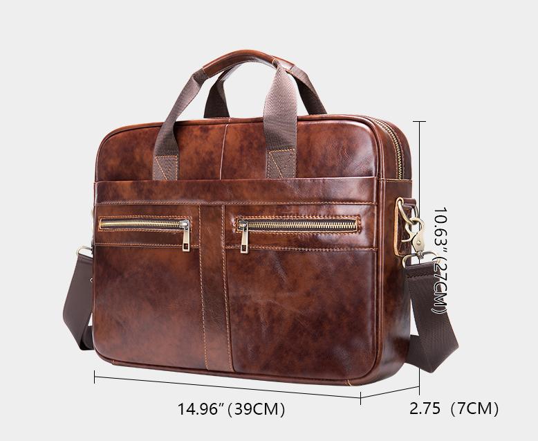 """Brown Leather Crossbody Bag Mens Vintage Leather Crossbody BagHandmade Leather Crossbody Bag """"Teneo"""" Gentcreate"""