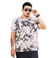 Men's printed t-shirt men's loose round neck men's Short Sleeve T-Shirt