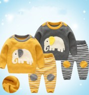 New Baby Sweater Suit Baby Jacket Thick Thick Line Suit
