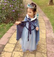 Blue Starry Sky Autumn And Winter Plus Velvet Padded Skirt
