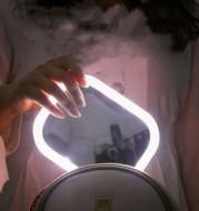 Desktop Mirror Dressing Mirror With Light Bulb Fill Light Beauty Makeup
