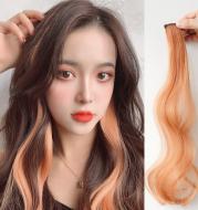 Curly Hair Hanging Ears, Hair Extension, Highlighting, Long Hair, Popular Color Wig