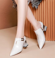 Pointed Patent Leather Single Shoes Women High Heels
