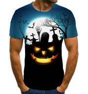 Pumpkin Monster 3D Digital Print Men's Short Sleeve T-shirt