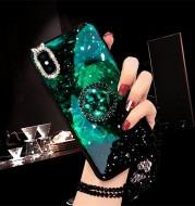 Colorful Shell Pattern Rhinestone Stand Phone Case