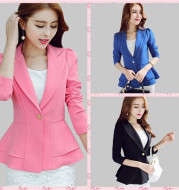 Casual Suit Long-Sleeved Small Suit Jacket Korean Style Slim Short Small Suit
