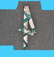 Trendy Handbags Tie Wrap Handle Silk Scarf