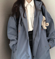 Autumn And Winter All-Match Ladies Cute Tooling Jacket
