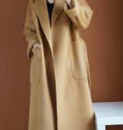 Women's Loose Temperament Mid-length Woolen Coat