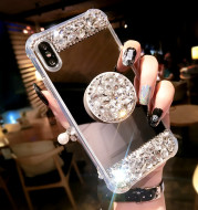 Mirror gem rhinestone phone case