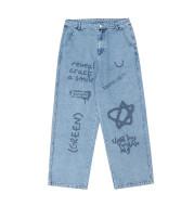 Graffiti Lettering Loose Casual Jeans