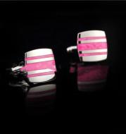 French Shirt Cufflinks Striped Enamel Cufflinks