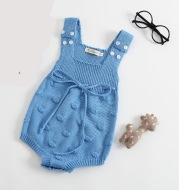 Woolen baby boys and girls one-piece romper with fungus
