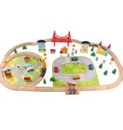 Children's Train Track Set Assembling Building Blocks Toys