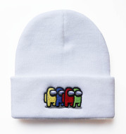 Among Us Game Peripheral Embroidery Knitted Hat