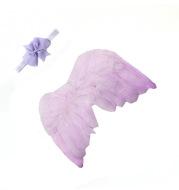 Baby Bowknot Headband Angel Feather Wing Set