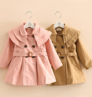 Spring And Autumn New Cotton Girls Windbreaker