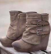 Female Booties With Wedge Heels Platform Boots Women Winter