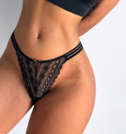 Lace Perspective, Breathable And Comfortable Bag Hip Low-waist T-shaped Pants Thong