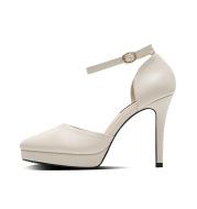 Pointed Waterproof Platform Single Shoes Hollow 10CM Strap Women's Shoes
