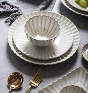 Simple Lace Kiln Glazed Ceramic Tableware Dish