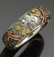 Vintage Carved Ring Flower Dragonfly Sunflower Ring