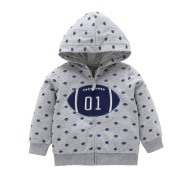 Children's Long Sleeve Casual Hooded Cardigan Jacket