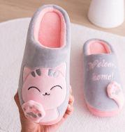Lucky Cat Cartoon Winter Warm Cotton Slippers