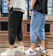 Summer Thin Men's Sports Casual Pants Loose Straight Leg Jeans