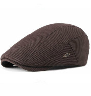 Beret Women's Knitted Wool Hat British Retro Men's Cap Light Board