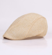Cotton Linen Beret Spring And Autumn Men's Breathable Cap Forward Cap